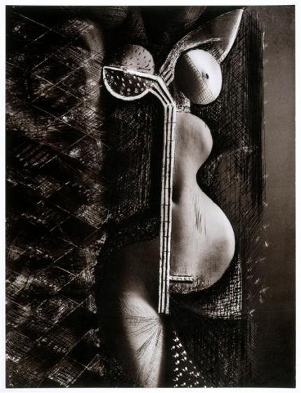 Brassaï. Jeune fille rêvant 1934. De la série transmutations Collage, épreuve gélatino-argentique Via RMN